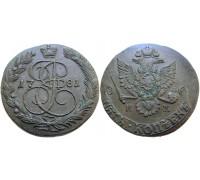 5 копеек 1781 КМ (Биткин R1)