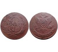 5 копеек 1764 ММ (перечекан)