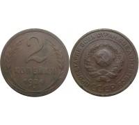 Монета 2 копейки 1924 (без просечки)
