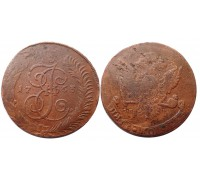 5 копеек 1763 СПМ (перечекан)
