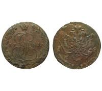 5 копеек 1781 ЕМ (передатировка)