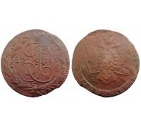 5 копеек 1769 ЕМ (Биткин R) (орел образца 1763 г.)