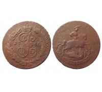 Монета 2 копейки 1765 СПМ (перечекан)