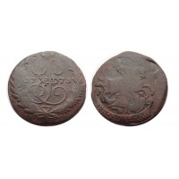 2 копейки 1773 ЕМ (вырубка из пятака)