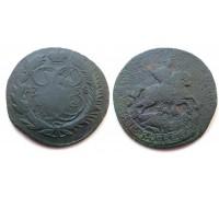 2 копейки 1758 (двойной перечекан)
