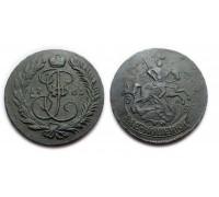 2 копейки 1765 ММ (двойной перечекан)