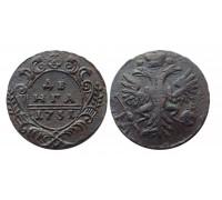 Деньга 1731 (перечекан)