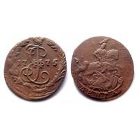 Деньга 1775 ЕМ (передатировка) (Биткин R)