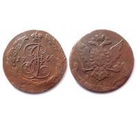 5 копеек 1764 ЕМ (перегравировка)